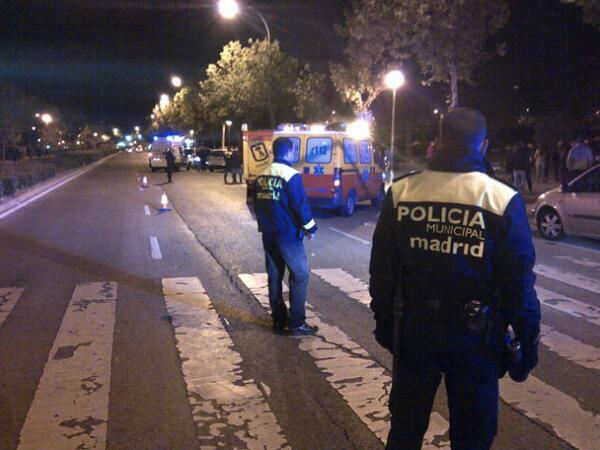 Joven de 15 años herida grave tras ser atropellada en Carabanchel (2/3)
